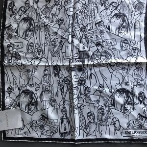 Emilio Pucci square silk bandana 45x45 cm